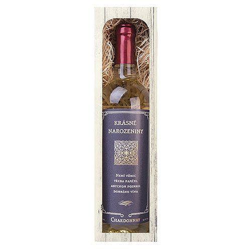 Dárkové víno - Narozeniny - bílé 750 ml Mediabox