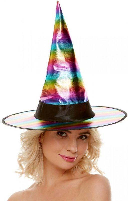 Klobouk čarodějnice - duha (121) Smiffys.com