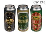 Pokladnička - plechovka piva 16x7 cm (76-D)