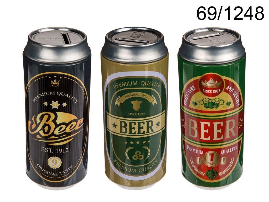 Pokladnička - plechovka piva 16x7 cm (76-D) ootb.de