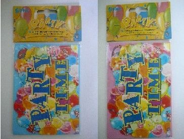 Pozvánky na párty modrá nebo růžová - 6ks (12) Globos