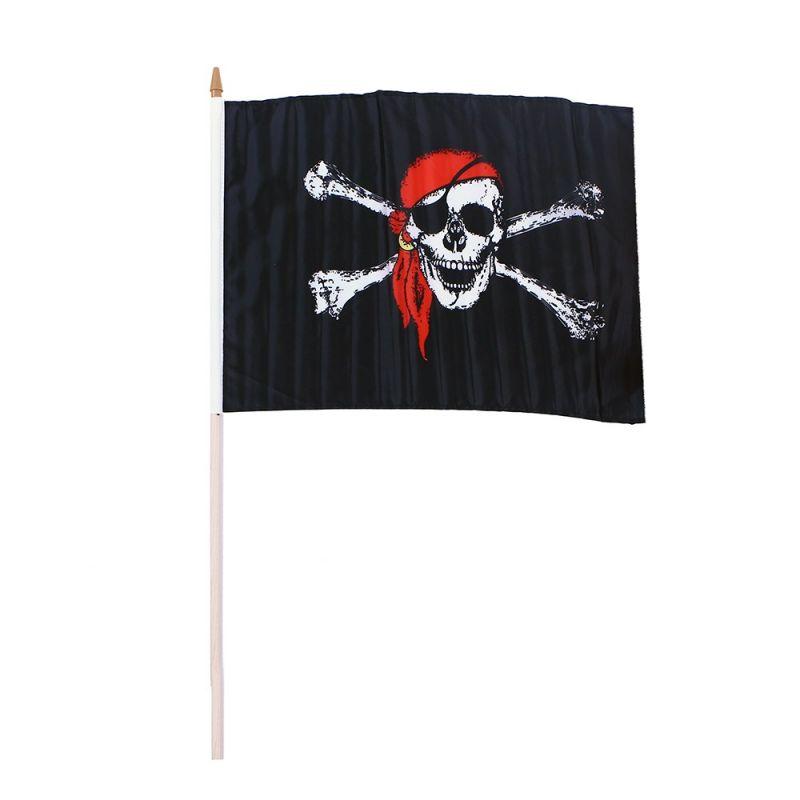 Vlajka pirátská 47x30cm (108) Rappa