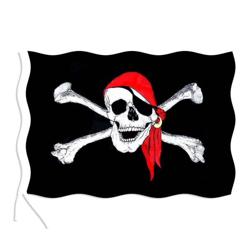 Vlajka pirátská 90x150 cm (18) Rappa
