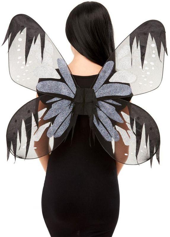 Křídla - Botanická - šedá - 65cm Smiffys.com