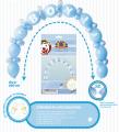 Balónek - gerlanda balónková - modrá (12)