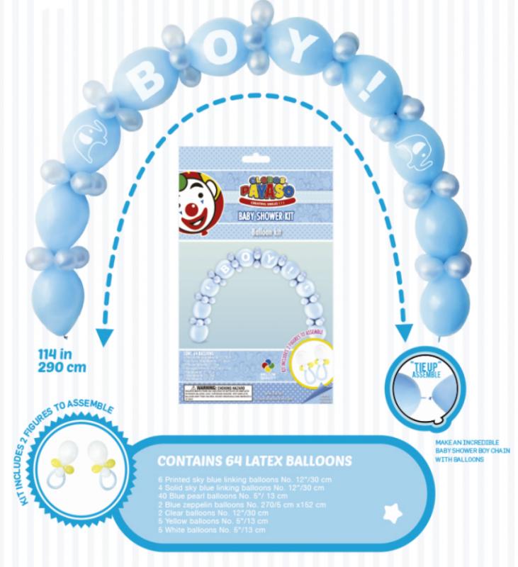 Balónek - gerlanda balónková - modrá (12) Globos