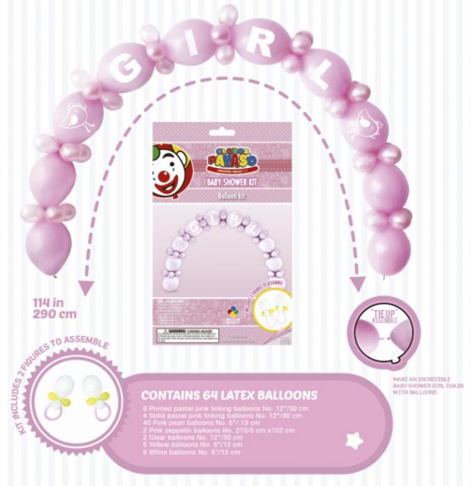 Balónek - gerlanda balónková - růžová (12) Globos