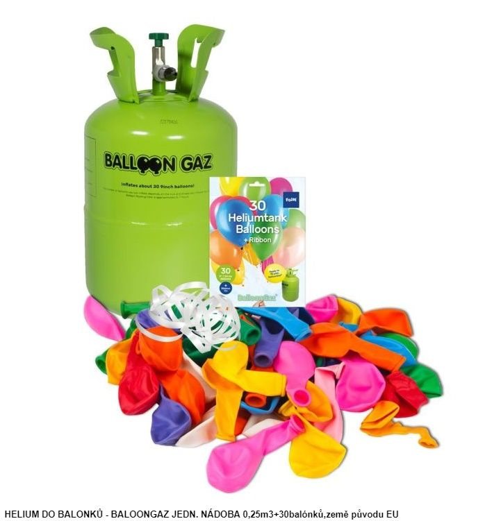 Helium + 30 latexových balónků (76) Tarra