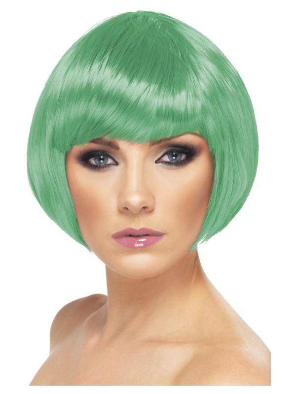 Paruka - Babe - tmavě zelená (3-E) Smiffys