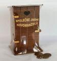 Pokladnička kadibudka dřevěná - Společné jmění novomanželů (75-C
