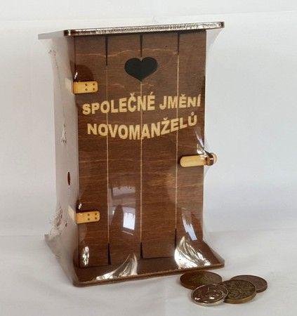 Pokladnička kadibudka dřevěná - Společné jmění novomanželů (75-C) Morávek