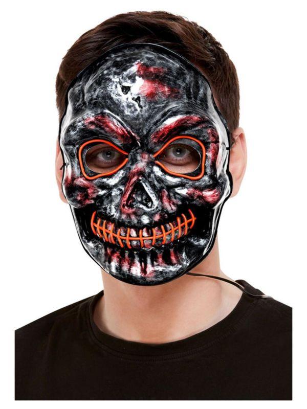Maska - kostlivec - se světlem Smiffys.com