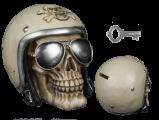 Pokladnička lebka - motorkář