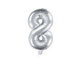 Balónek celofánový - stříbrný - 8