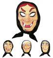 Maska čarodějnice s kápí (68)