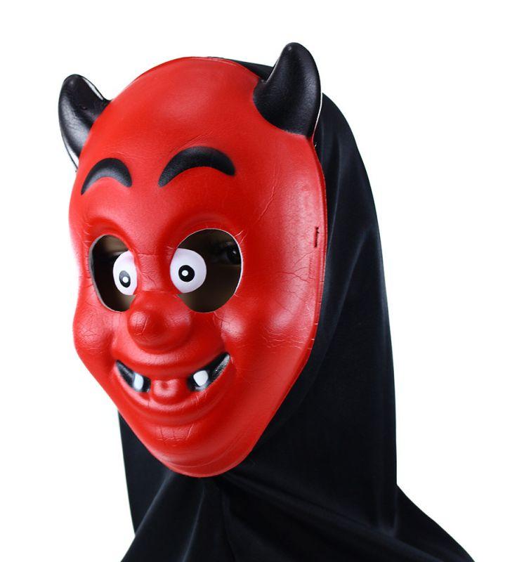 Maska čert s šátkem (90) Rappa