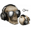 Pokladnička lebka - sluchátka  (71-C)