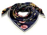 Šátek květy satén 70x70 cm (78-I)