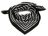 Šátek s proužkem černý satén 55x55cm (78-I)