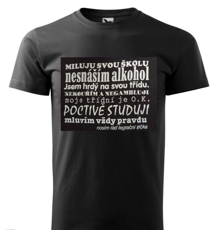 Tričko - Miluju svou školu - M ptakoviny.cz