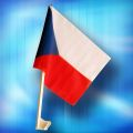 Vlajka na auto Česká republika 45 cm  (108)