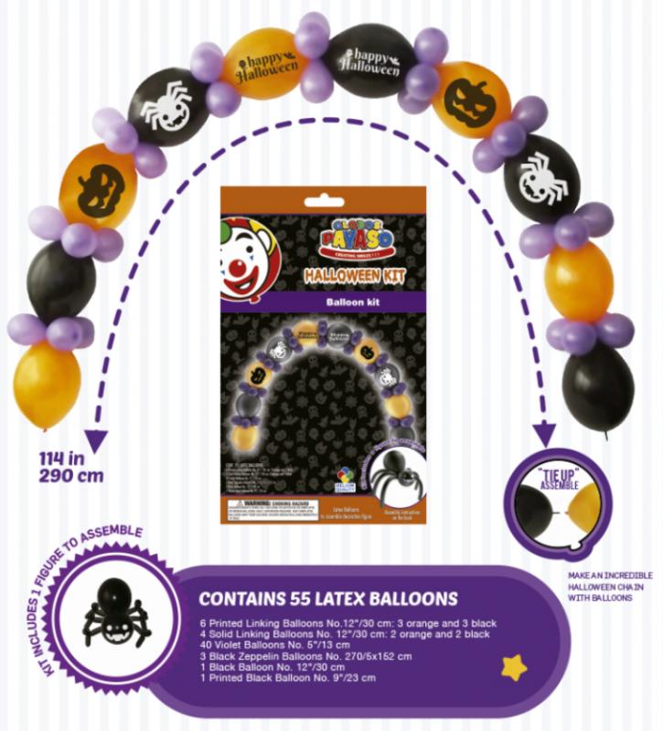 Balónek - sada Halloween 55ks - (12)