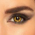 Oční čočky - Twilight - žlutočerné (74D)