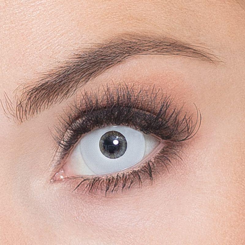 Oční čočky - Zombie bílé (74D)