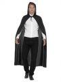 Plášť s kapucí černý -  115 cm (84-D)