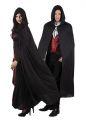 Plášť s kapucí černý (84-D)