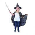 Plášť s kloboukem  černý - dětský  (57)