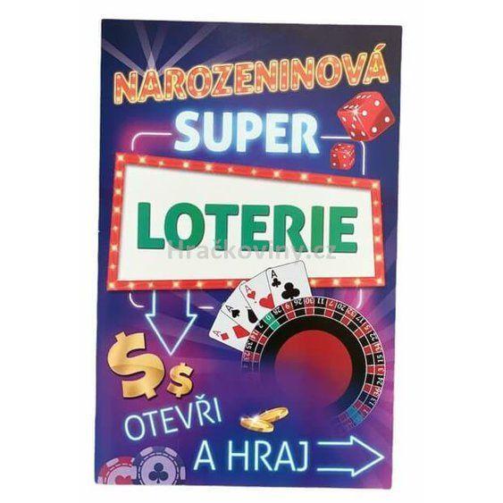 Přání - stírací - k narozeninám loterie