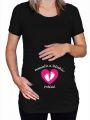 Tričko - Těhotenské  - Maminčin a  - XL - (18-E)