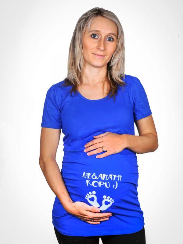 Tričko - Těhotenské - Nesahat kopu - XL - (18-E)